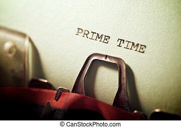 Prime time concept