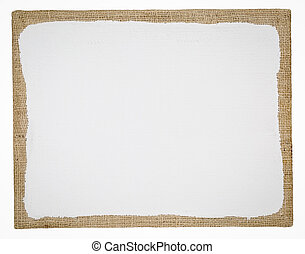 primed and stretched burlap art canvas