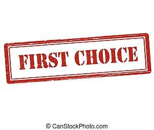 primeiro, escolha