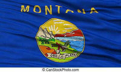 primer plano, bandera de montana, estados unidos de américa, estado