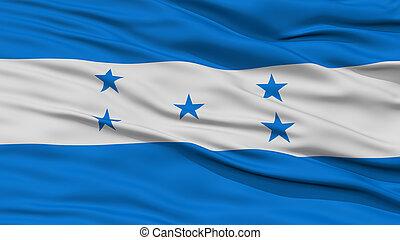 Primer plano, bandera,  honduras