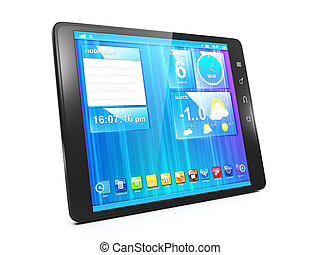 primer plano, crear, tableta, móvil, aplicaciones, ...