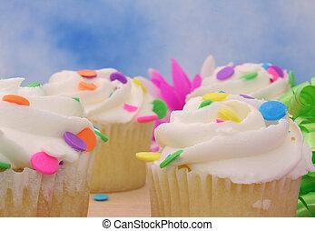 primer plano, cupcakes