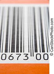 primer plano, de, barcode