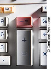 primer plano, de, calculadora