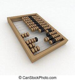 primer plano, de, de madera, ábaco