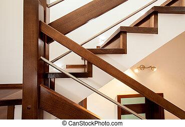 primer plano, de, escaleras