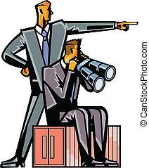 primer plano, de, hombres de negocios