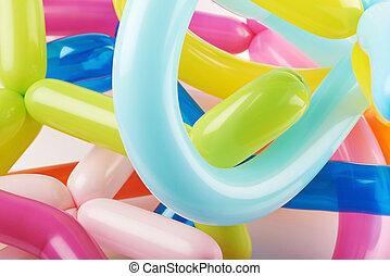 primer plano, de, modelado, globos