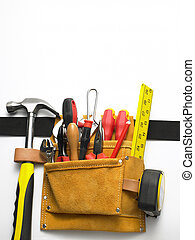 primer plano, de, toolbelt