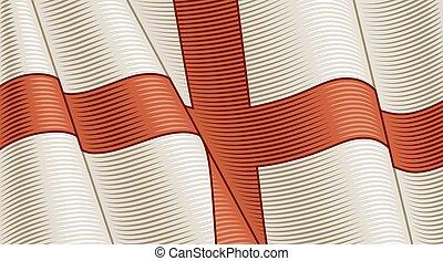 primer plano, england., bandera, plano de fondo, vendimia