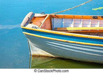 Bote salvavidas, vasija, navegación, popa. Navegación, bote