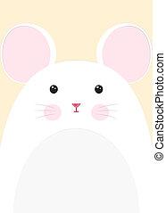 primer plano, ratón