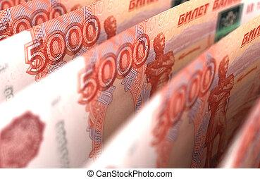 primer plano, rublo