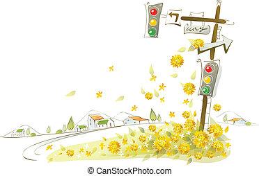 primer plano, semáforo