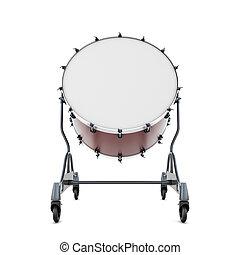 primer plano, tambor, bajo