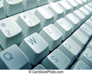 primer plano, teclado