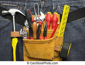primer plano, toolbelt