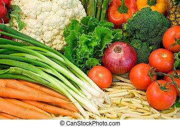 primer plano, veggies