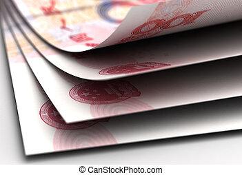 primer plano, yuan