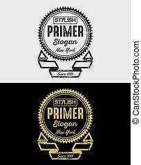 Primer Vintage Grunge Logo & Badges