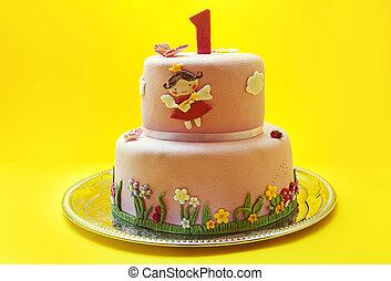 primera torta de cumpleaños