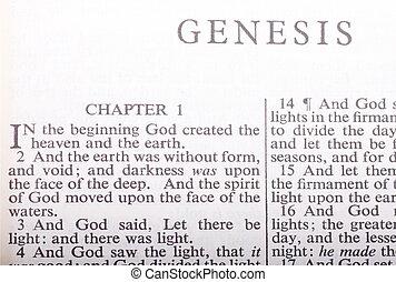 primero, versos, de, el, biblia