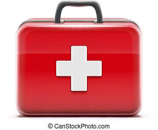 primeros auxilios, caja