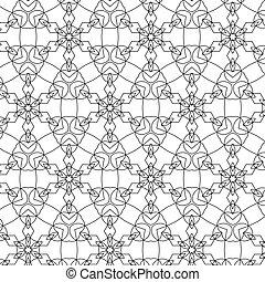 primitív, motívum, megvonalaz, circles., retro, geometria, sacra