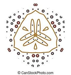 primitív, motívum, megvonalaz, circles., retro, geometriai, sacra