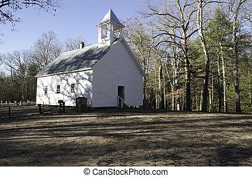 primitiv, baptist, kirche