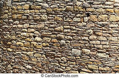 Primitive sandstone wall %u2013 texture