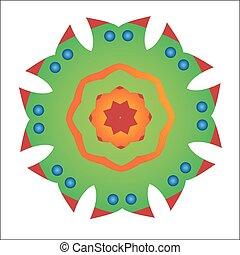 Primitive simple green modern pattern