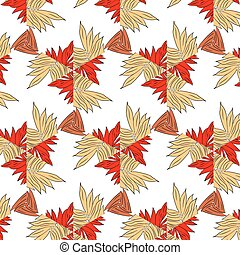 Primitive simple red modern pattern