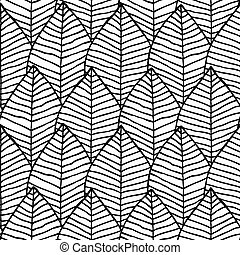 Primitive structure seamless pattern in black and white is ...