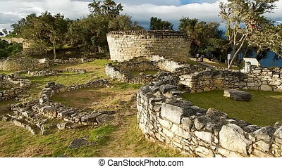 primitive structures constructed by ancient incans - shot...