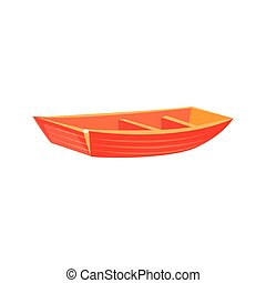 Primitive Wooden Toy Boat