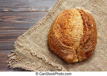 primo piano, bread., cima, tradizionale, fresco, vista