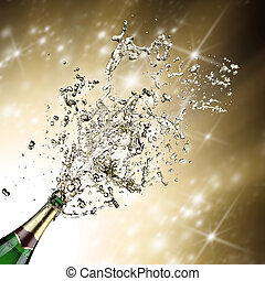 primo piano,  champagne, esplosione