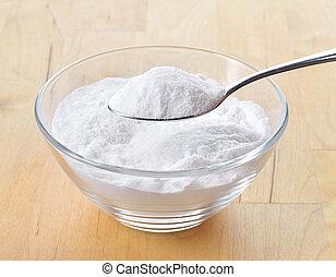 primo piano, cottura, spoon., soda