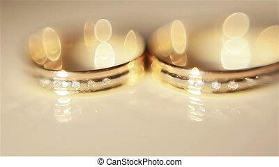 primo piano, di, anelli nozze