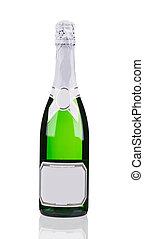 primo piano, di, champagne, bottle.