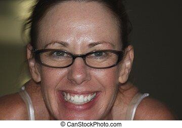 primo piano, di, donne, con, occhiali