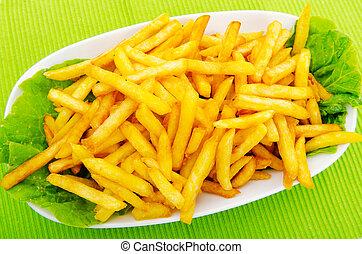 primo piano, di, patatine fritte