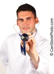 primo piano, di, uno, stetoscopio