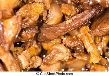 primo piano, fritto, mushrooms.
