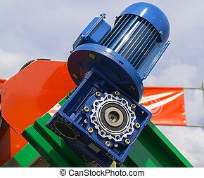 primo piano, ingranaggio, motore