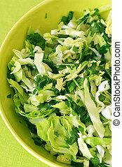 primo piano, insalata verde