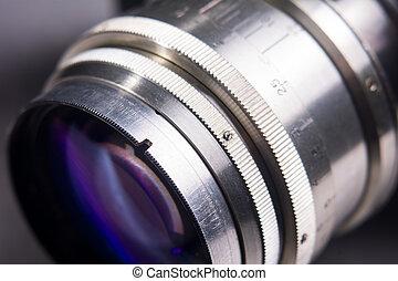 primo piano, macchina fotografica, lens.