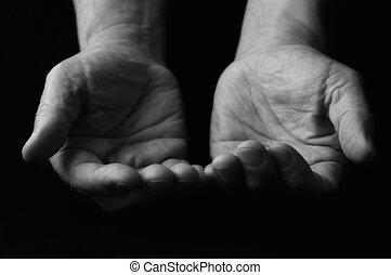 primo piano, mani